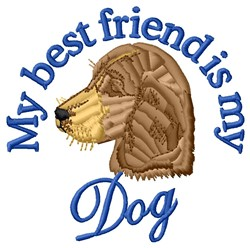 Dog Friend embroidery design