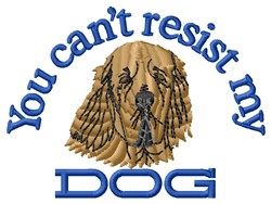Resist My Dog embroidery design