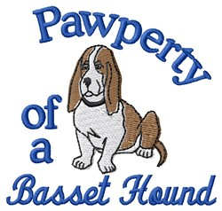 Basset Pawperty embroidery design