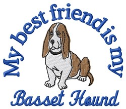 Basset Best Friend embroidery design
