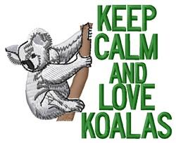 Love Koalas embroidery design