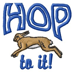 Hop To It embroidery design