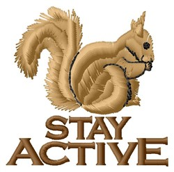 Stay Active embroidery design