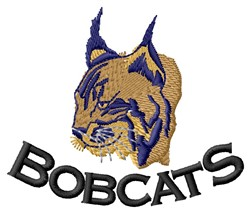 Bobcats embroidery design