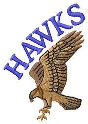 Hawks embroidery design
