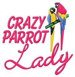 Parrot Lady embroidery design