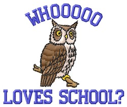 Loves School embroidery design