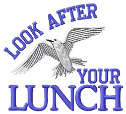 Your Lunch embroidery design