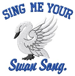 Swan Song embroidery design