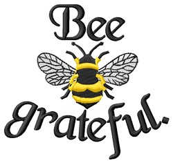 Bee Grateful embroidery design