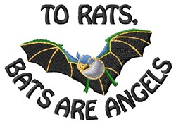 Bat Angels embroidery design