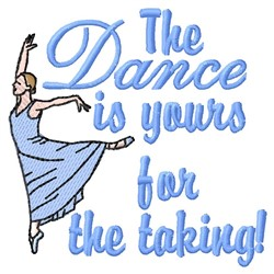 The Dance embroidery design