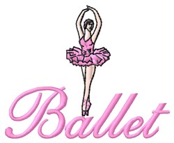 Ballet embroidery design