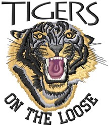 Tigers On Loose embroidery design