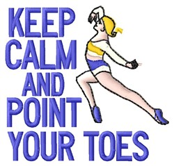 Point Your Toes embroidery design