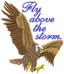 Above The Storm embroidery design