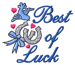Best Of Luck embroidery design