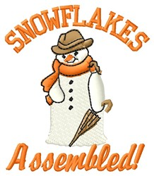 Snowflakes Assembled embroidery design