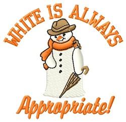 White Appropriate embroidery design