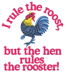 Rule Roost embroidery design