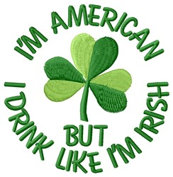 Drink Irish embroidery design