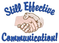 Effective Communication embroidery design