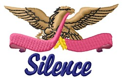 Silence embroidery design