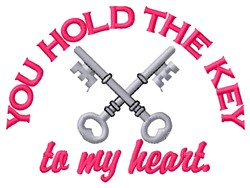 Key To Heart embroidery design