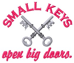 Small Keys embroidery design