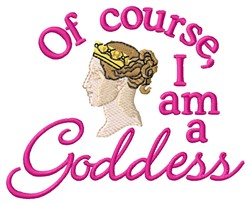I Am Goddess embroidery design