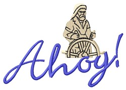 Ahoy embroidery design
