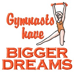 Gymnast Dreams embroidery design