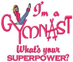 Im A Gymnast embroidery design