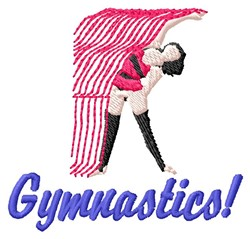 Gymnastics embroidery design
