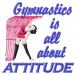 Gymnastics Attitude embroidery design