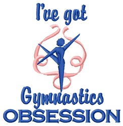 Gymnastic Obsession embroidery design