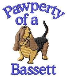 Pawperty Of Bassett embroidery design