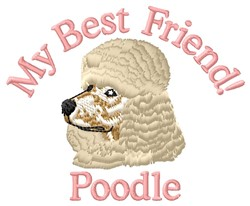 Poodle Friend embroidery design