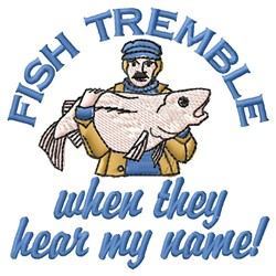 Fish Tremble embroidery design