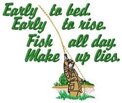 Early To Rise embroidery design