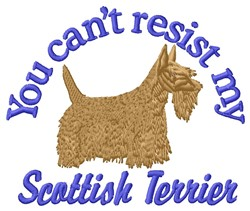 Resist Scottish Terrier embroidery design