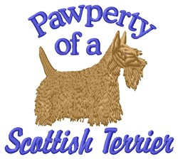 Pawperty Scottish Terrier embroidery design