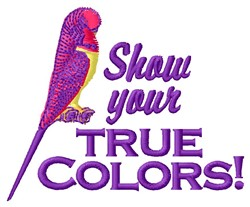 True Colors embroidery design