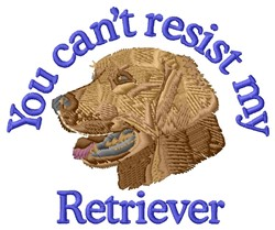 Resist My Retriever embroidery design