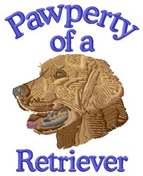 Pawperty Of Retriever embroidery design