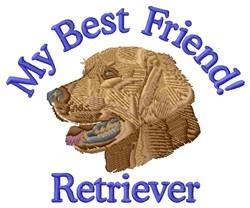Retriever Friend embroidery design