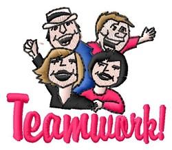 Teamwork embroidery design
