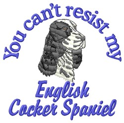 English Cocker Spaniel embroidery design