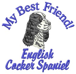 Cocker Spaniel Friend embroidery design