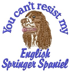 Cant Resist Springer embroidery design